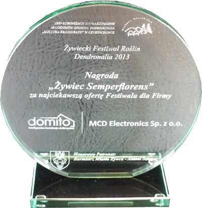 Dendronalia 'Żywiec Semperflorens' FESTIVAL 2013 AWARD FOR THE MOST INTERESTING OFFER